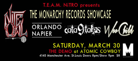 Monarchy Recording Artists Showcase!